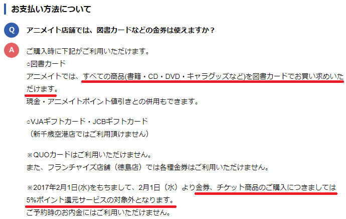 アニメイトFAQ